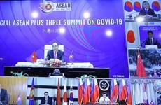 Le PM préside le Sommet spécial de l'ASEAN+3 par visioconférence