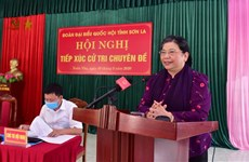 La vice-présidente de l'Assemblée nationale à l'écoute des électeurs de Son La