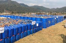 Le Myanmar opère une saisie record des drogues de synthèse