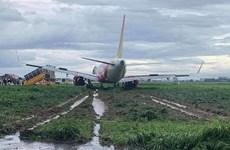 De nombreux vols affectés après la sortie de piste d'un avion de Vietjet Air
