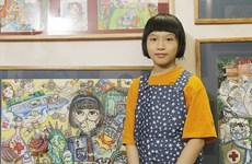 Un journal britannique loue une fillette vietnamienne peignant contre le COVID-19