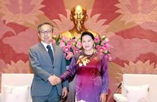 La présidente Nguyen Thi Kim Ngan reçoit l'ambassadeur du Japon