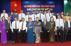La présidente de l'AN exhorte Binh Phuoc à favoriser ses atouts pour promouvoir la croissance économique