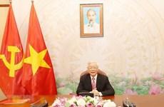 Le leader Nguyên Phu Trong s'entretient avec le Premier ministre Hun Sen