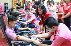 Le programme « Itinéraire rouge » arrive à Bac Giang, plus de 570 unités de sang collectées