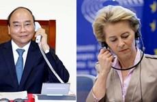 Le Premier ministre s'entretient avec la présidente de la CE