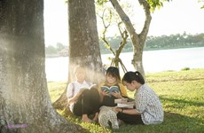 Coin lecture au bord de la rivière des Parfums