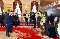 Les dirigeants chinois rendent hommage à l'ex-secrétaire général Lê Kha Phiêu