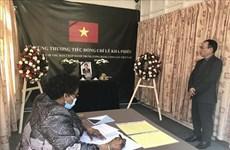 Hommage posthume à l'ancien Secrétaire général Le Kha Phieu en Inde, aux Philippines et en Tanzanie