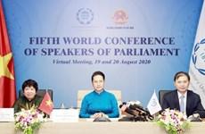 La 5e Conférence mondiale des présidents de parlement adopte une déclaration