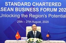 Le PM participe au Forum d'affaires de l'ASEAN Standard Chartered 2020
