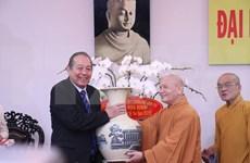 La fête Vu Lan: vœux à l'Église bouddhique du Vietnam