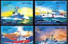 """Publication des timbres """"Navires des Garde-côtes du Vietnam"""""""