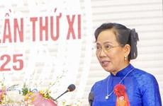 Le Thi Thuy réélue secrétaire du Comité du Parti de Ha Nam