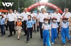 Marche de sensibilisation au port du casque