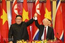 Félicitations à l'occasion des 75 ans de la fondation du Parti du Travail de Corée