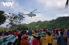 Intempéries : cinq vols transportant des secours vers le Centre