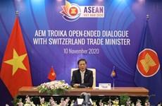 Dialogue virtuel entre les ministres de l'Economie de l'ASEAN et la Suisse