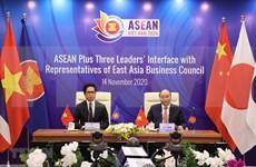 Dialogue des dirigeants de l'ASEAN + 3 pays avec des représentants du Conseil d'affaires de l'Asie de l'Est