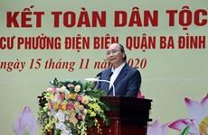 Le PM à la Fête de grande union nationale dans un quartier à Hanoï