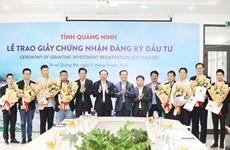 Neuf nouveaux projets d'IDE autorisés à Quang Ninh