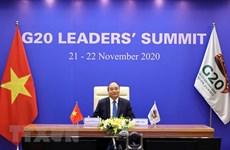 Le PM Nguyên Xuân Phuc s'adresse au Sommet virtuel du G20
