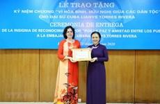 L'ambassadrice cubaine Lianys Torres Rivera mise à l'honneur