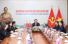 responsables du PCV et du PCC s'entretiennent virtuellement