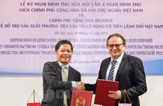 Vietnam et Biélorussie coopèrent pour soutenir la production de véhicules à moteur