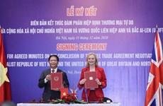 Le libre-échange Vienam-Royaume-Uni va entrer en vigueur la nuit du 31 décembre
