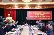 Le PM exhorte Hoa Binh à valoriser son potentiel pour stimuler le développement local