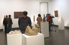 Ouverture d'une exposition des beaux-arts à Hanoï
