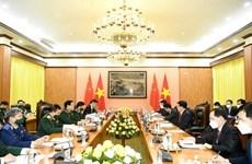 Le ministre de la Défense reçoit le ministre chinois de la Sécurité publique
