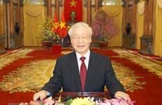 Messages de félicitations au secrétaire général du Parti et président Nguyen Phu Trong