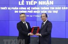 Le Vietnam reçoit de l'équipement japonais pour le système d'information du gouvernement
