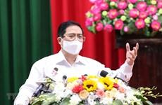 Le Premier ministre Pham Minh Chinh rencontre des électeurs de Can Tho