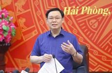 Le président de l'Assemblée nationale Vuong Dinh Hue à Hai Phong