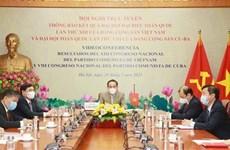 Informer Cuba et la Russie des résultats du 13e Congrès national du Parti communiste du Vietnam