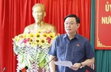 Le président de l'AN encourage Dak Nong à mieux exploiter ses atouts
