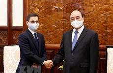 Le président Nguyen Xuan Phuc reçoit l'ambassadeur d'Inde