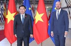 La présidente de l'AN Vuong Dinh Hue rencontre le président du Conseil européen