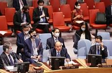 Climat : Le président Nguyen Xuan Phuc participe à une réunion du Conseil de sécurité de l'ONU