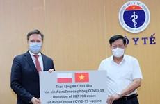 Réception de près de 2 millions de doses de vaccin accordées par la Pologne et la R.de Corée