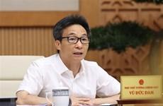 Le vice-PM Vu Duc Dam préside une réunion sur la reprise d'activités touristiques
