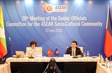 Le Comité des hauts fonctionnaires de la Communauté socio-culturelle de l'ASEAN tient sa 28e réunion