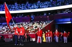 JO de Tokyo : la délégation vietnamienne défile à la cérémonie d'ouverture