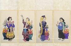 Quand la peinture folklorique s'inspire des animations de Disney