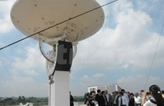 Première station de réception de photos satellites
