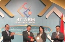 Fin des négociations Chine-ASEAN sur le libre-échange