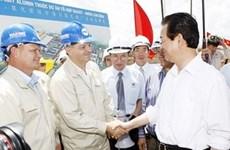 Le PM sur le chantier du complexe de bauxite